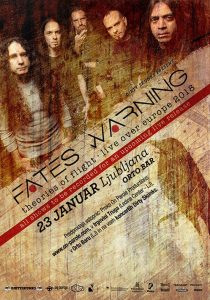Fates Warning (USA) ,Methodica (Ita) @ Orto bar | Ljubljana | Slovenija
