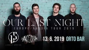 Our Last Night, Lonely Spring, A Place to Die @ Orto bar | Ljubljana | Slovenija