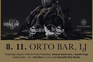 Swallow the Sun (Fin), October Tide (Swe), Oceanwake (Fin) @ Orto bar | Ljubljana | Slovenija