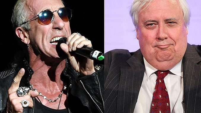 Dee Snider (Twisted Sister) in Clive Palmer